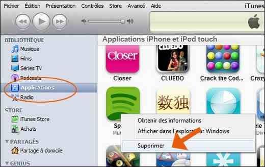 Comment desinstaller application sur iphone