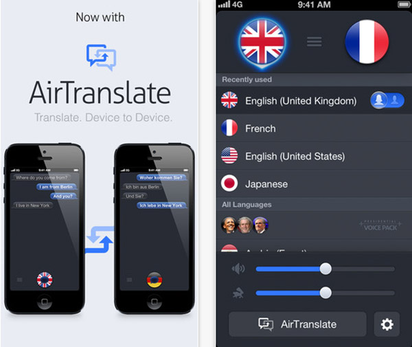 Application traduction vocale iphone