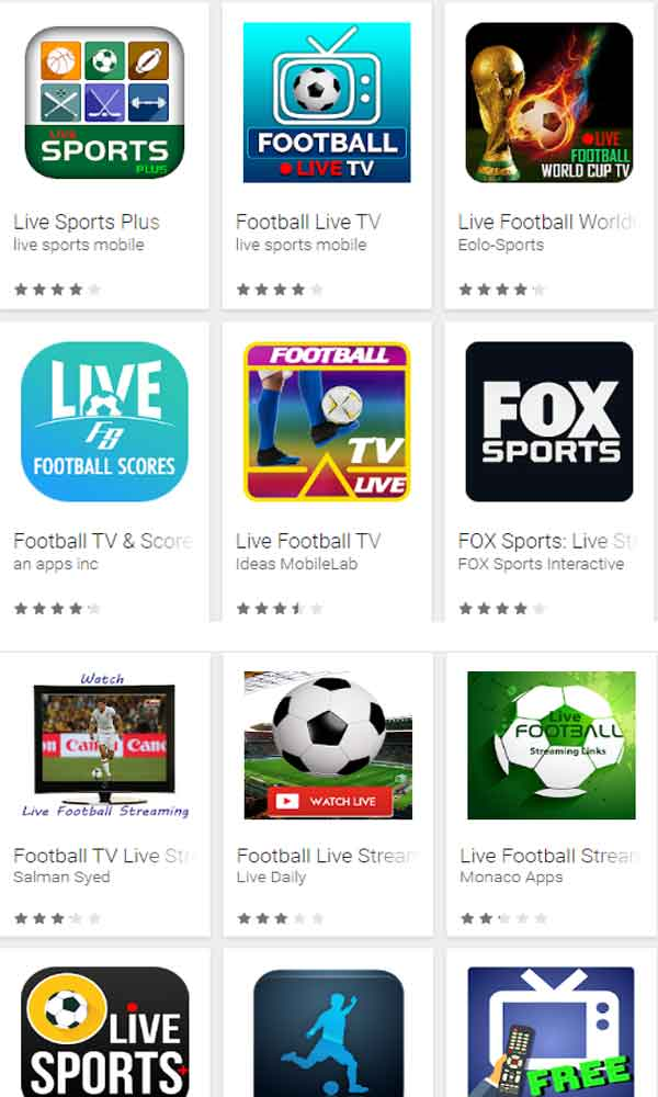 Application iphone streaming foot