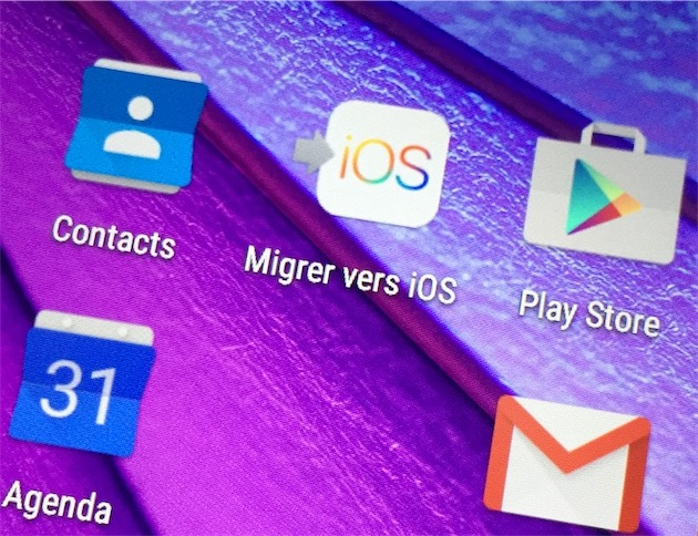 Application iphone vers android