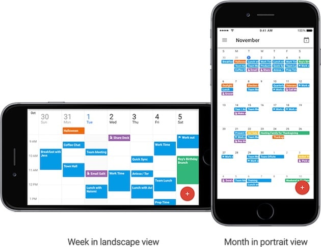 Application iphone calendrier