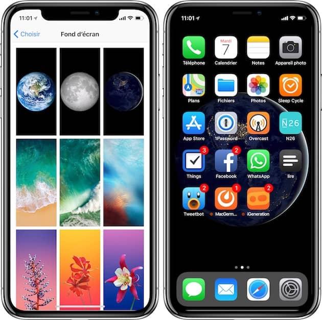 Application pour creer fond ecran iphone