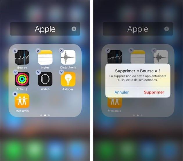 Supprimer application iphone se