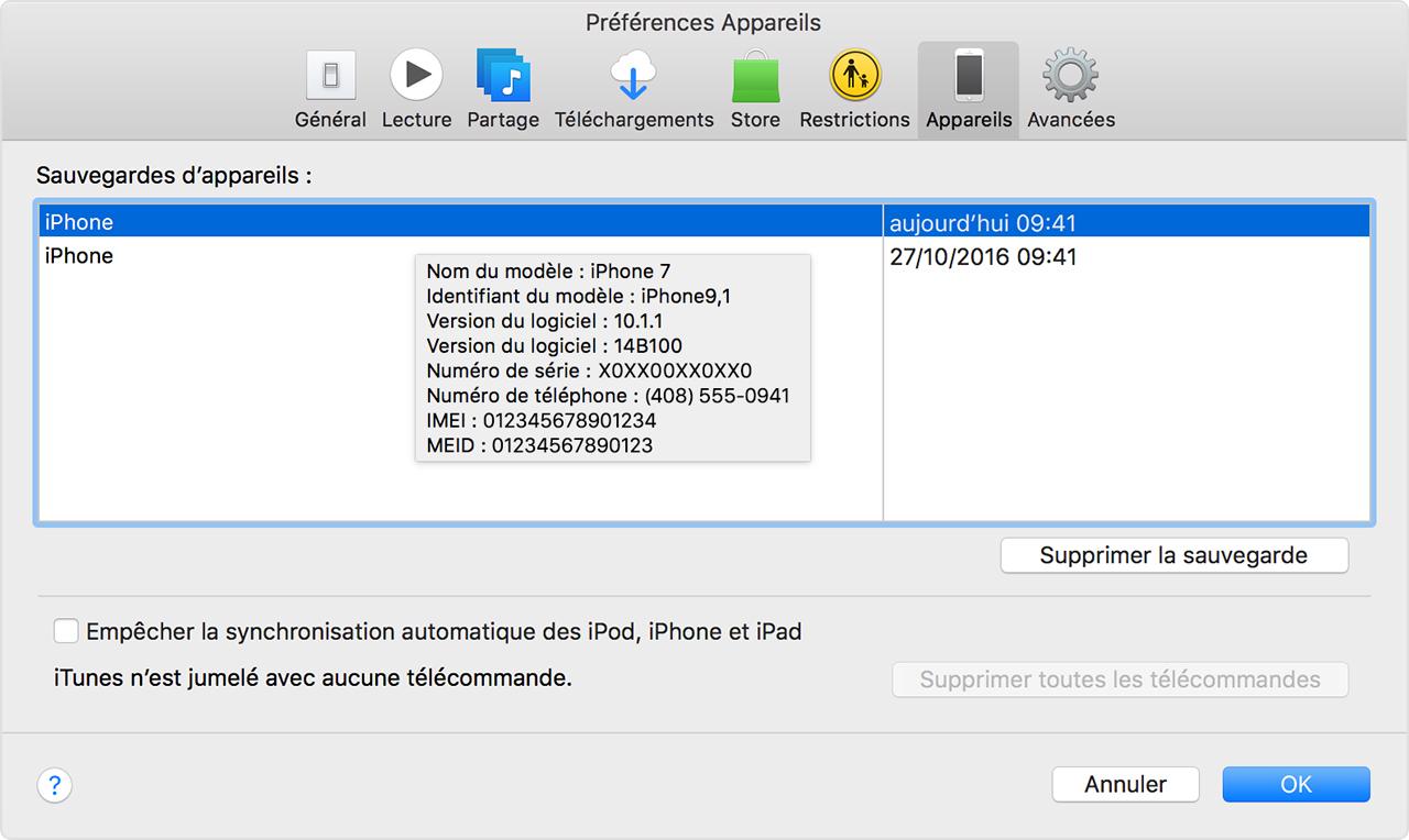 Supprimer application sur itunes iphone