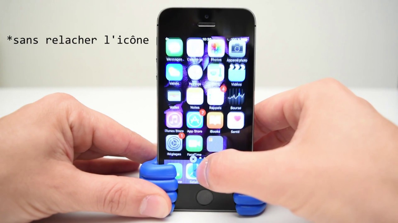 Cacher application iphone ios 10