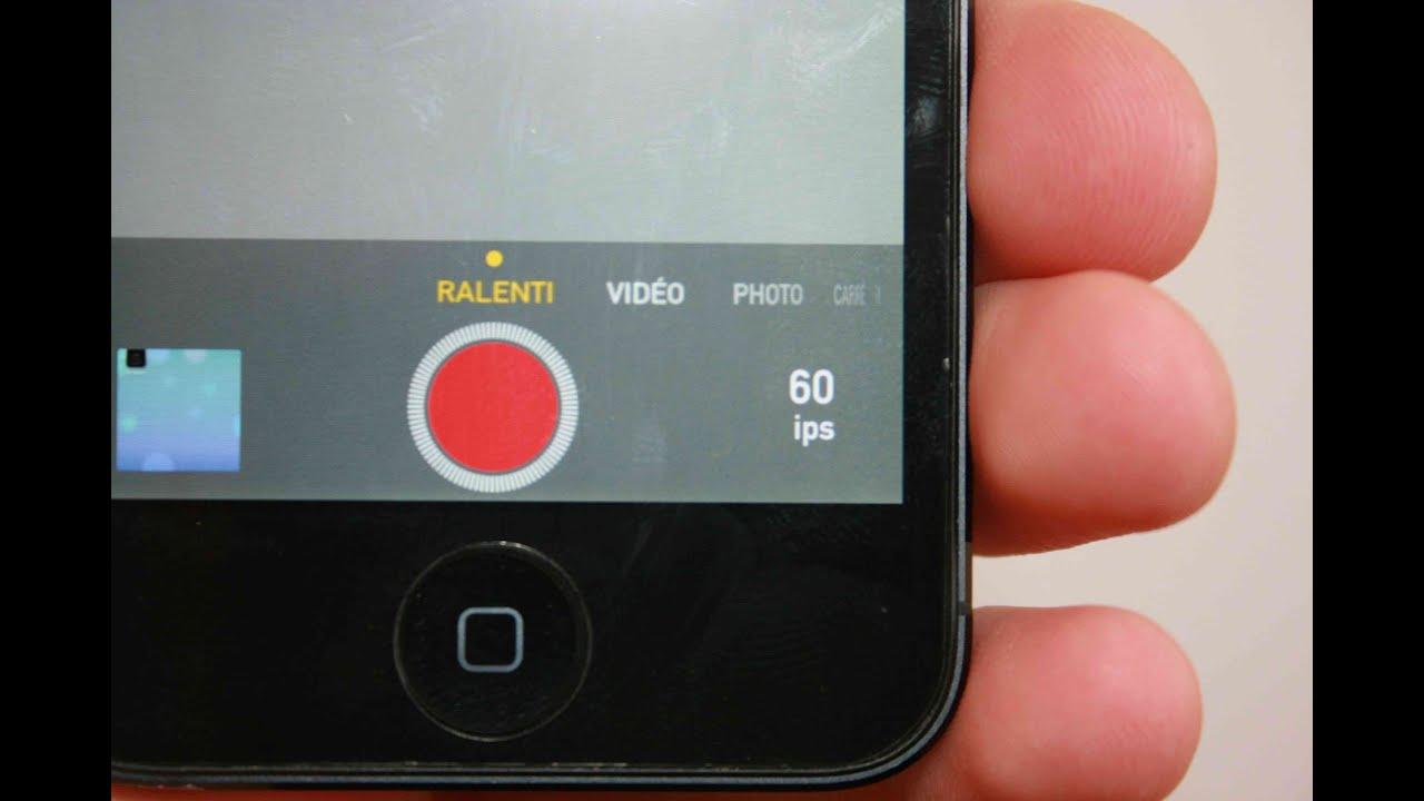 Application iphone ralenti video