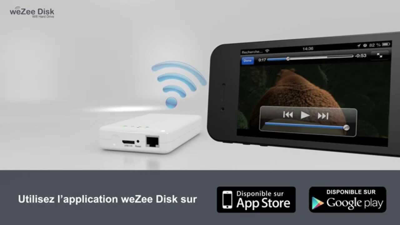 Wezee disk application iphone