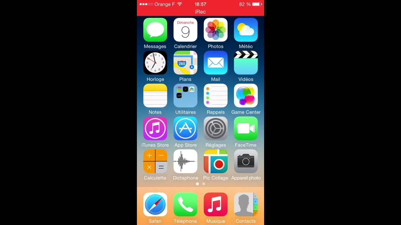 Application iphone capture ecran video