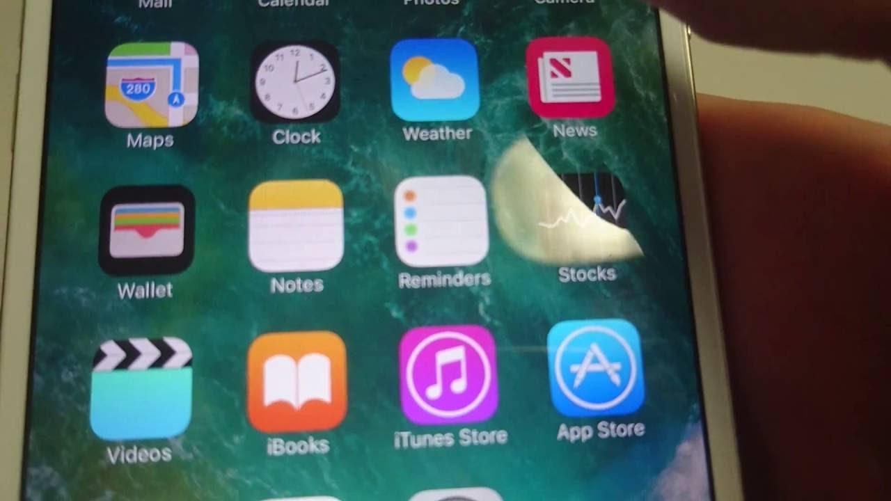 Iphone reinitialiser application