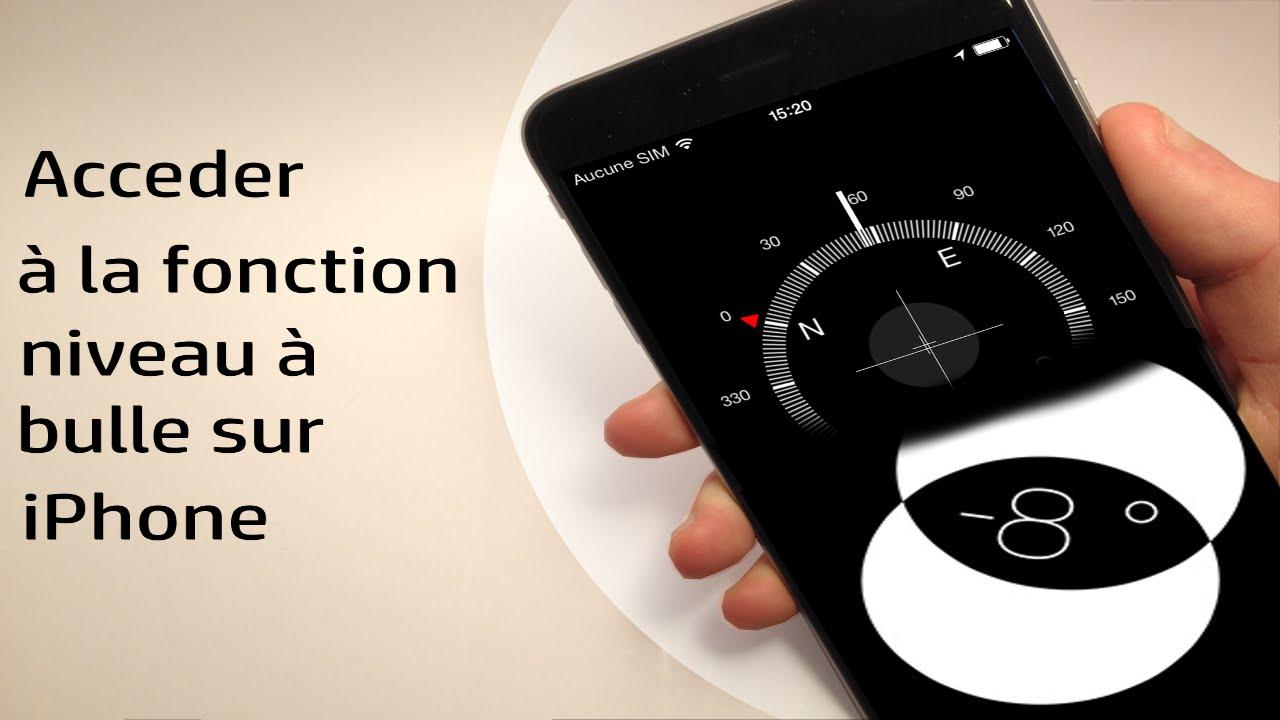 Iphone application niveau bulle