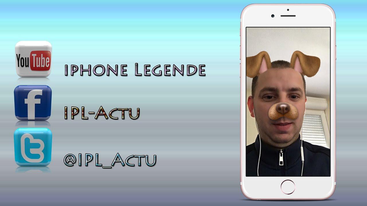 Application deformer visage iphone