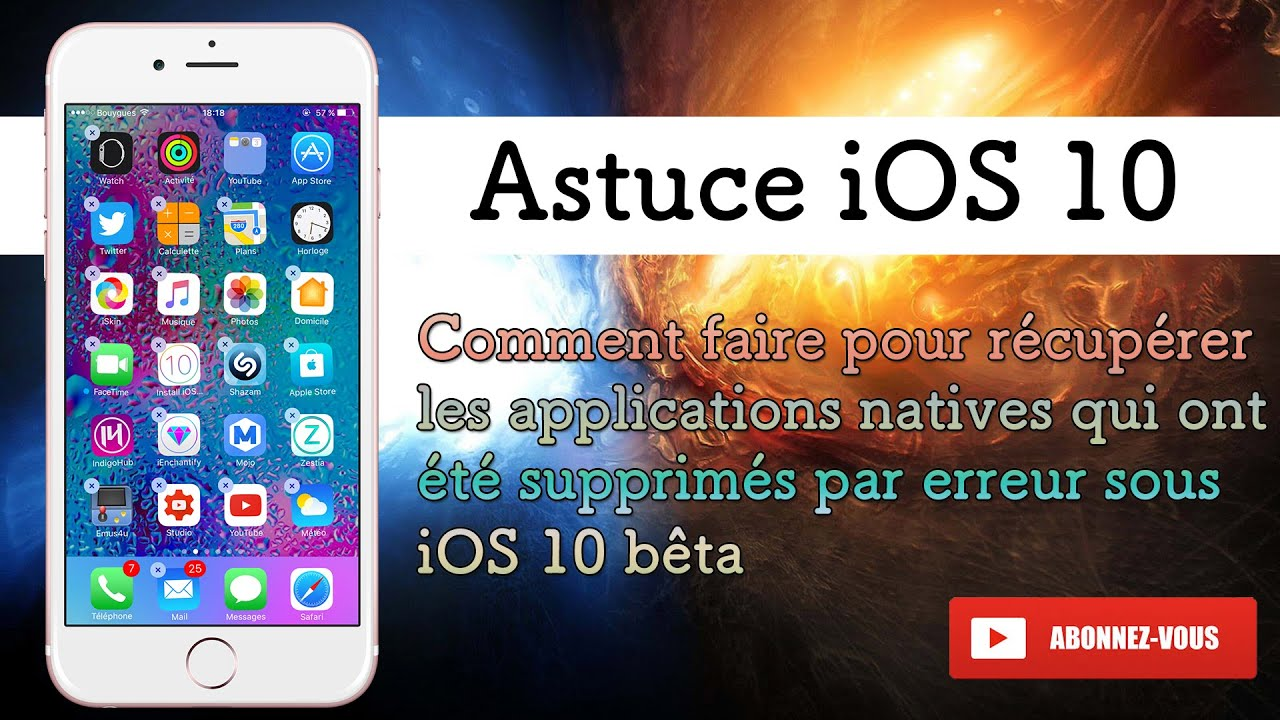 Application video iphone disparu