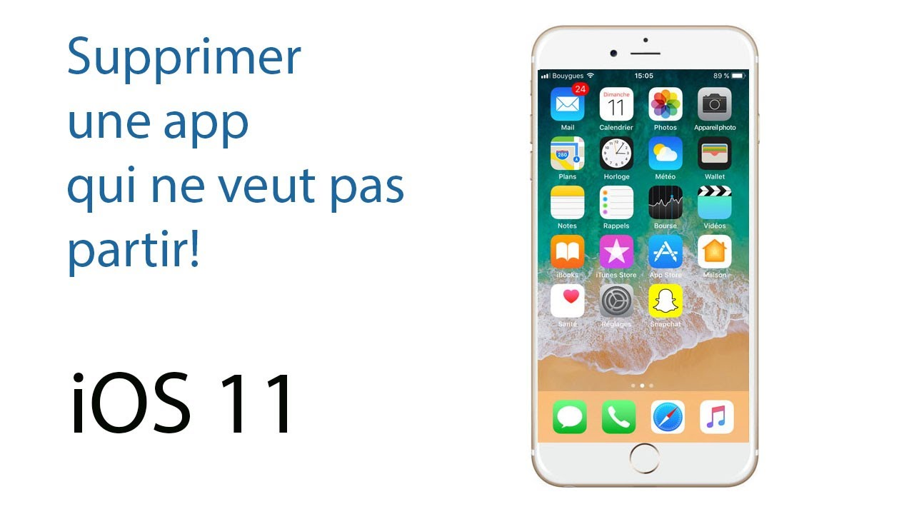 Supprimer une application iphone 6