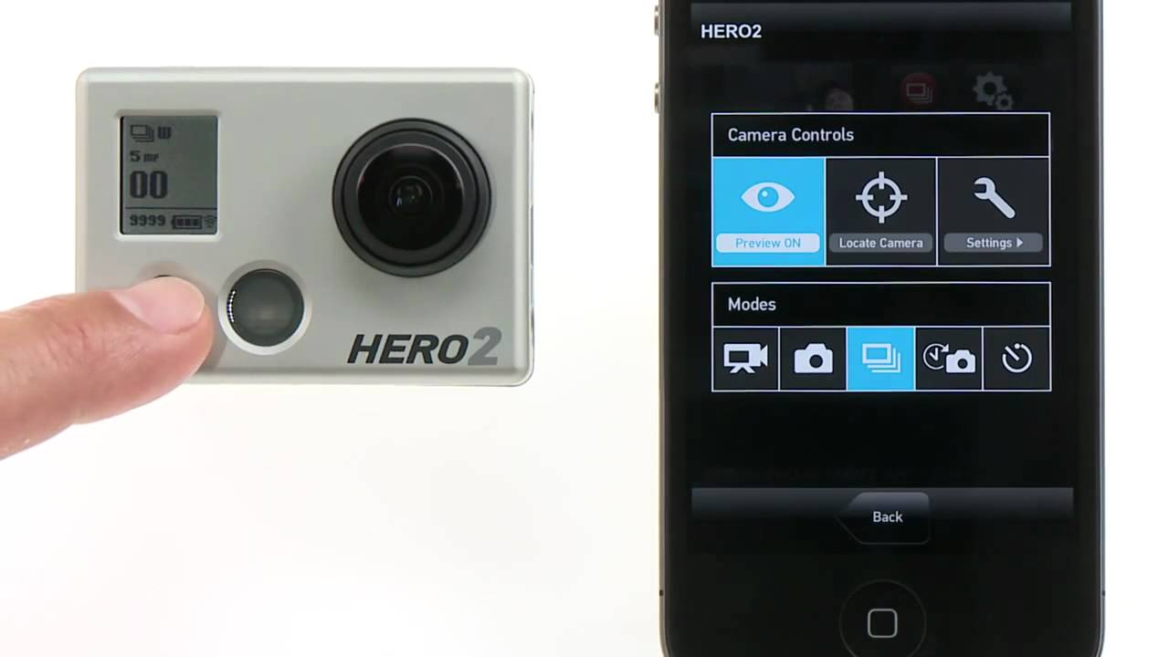 Application iphone gopro