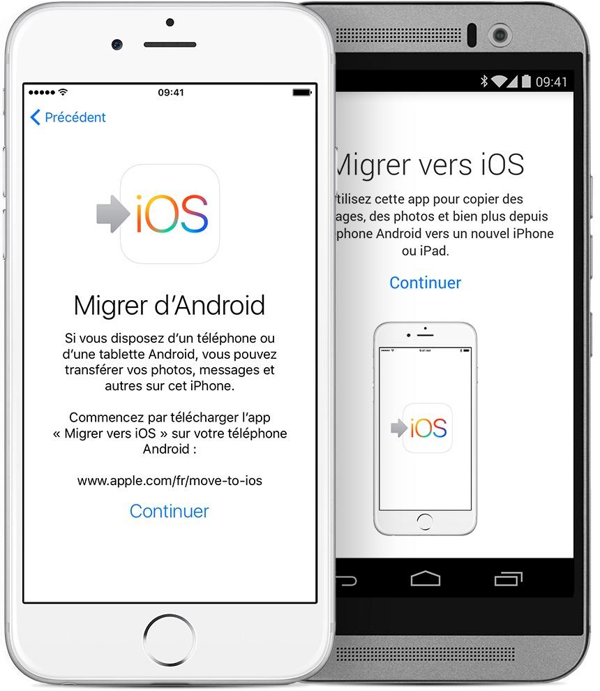 Transférer une application d'un iphone à un autre