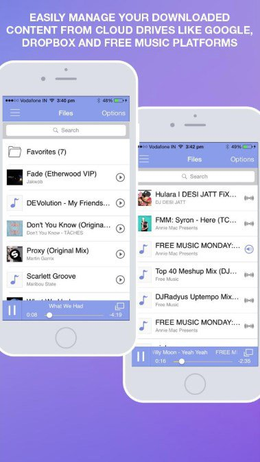 Application telecharger musique iphone sans internet