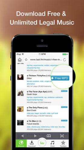 Application iphone musique hors ligne
