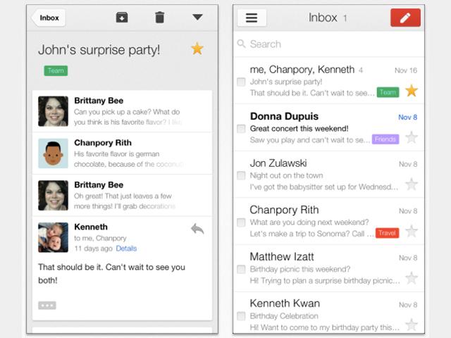 Application gmail iphone deconnexion
