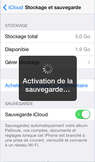 Sauvegarder application iphone