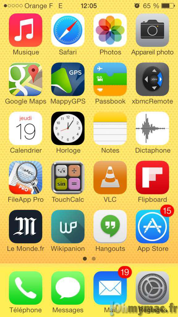 Application sur iphone 6
