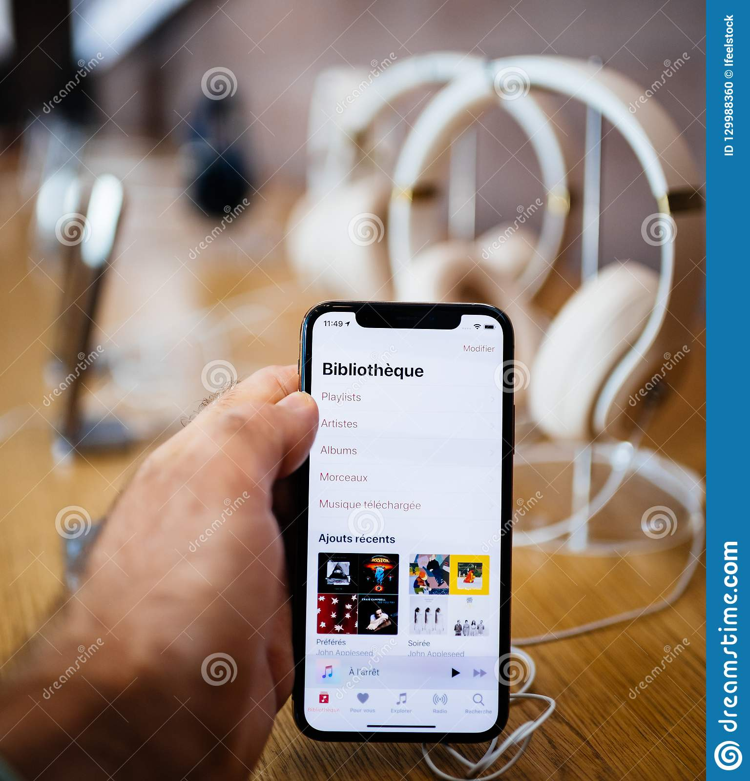 Application iphone bibliotheque