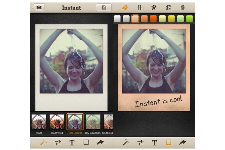 Application iphone photo polaroid