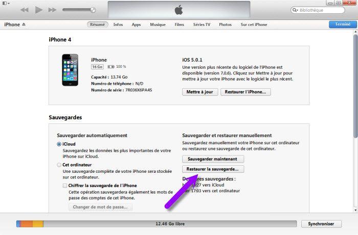 Sauvegarder mes application iphone