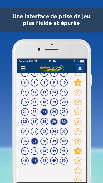 Application euromillion iphone