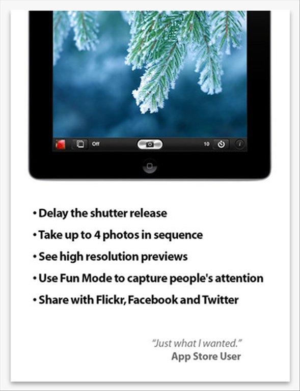 Application iphone photo retardateur