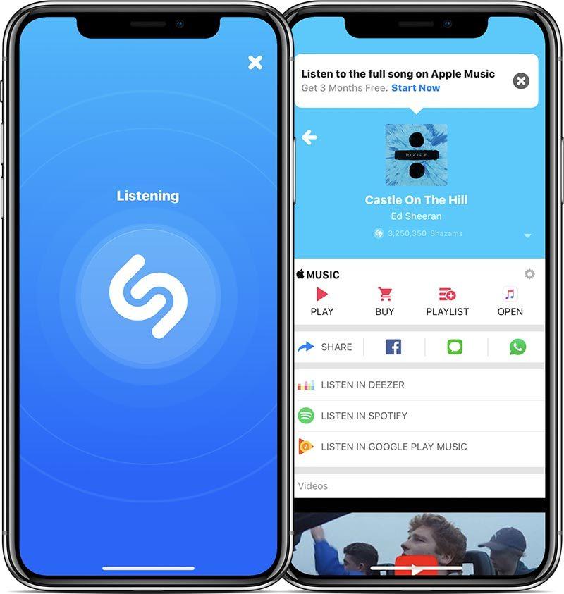 Shazam application iphone