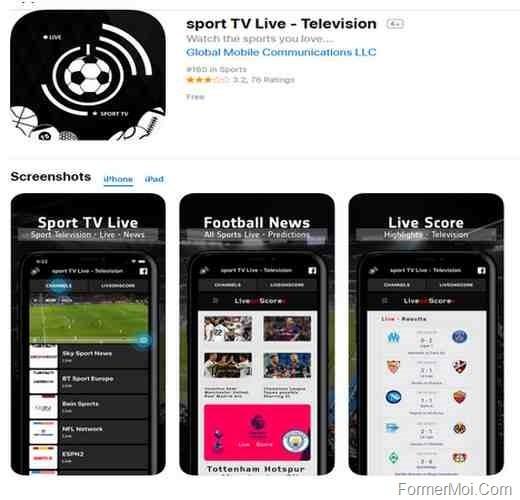 Application iphone gratuite pour sport