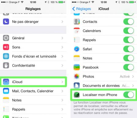 Iphone activer localisation application
