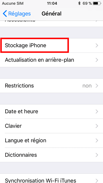 Application iphone stockage documents