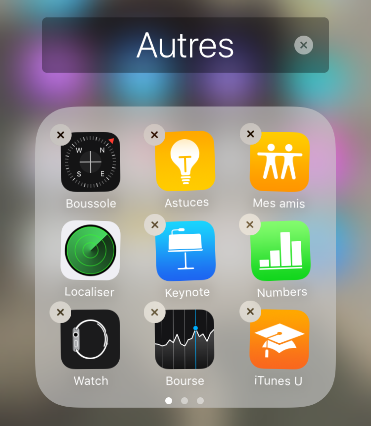 Desinstaller application sur iphone 4