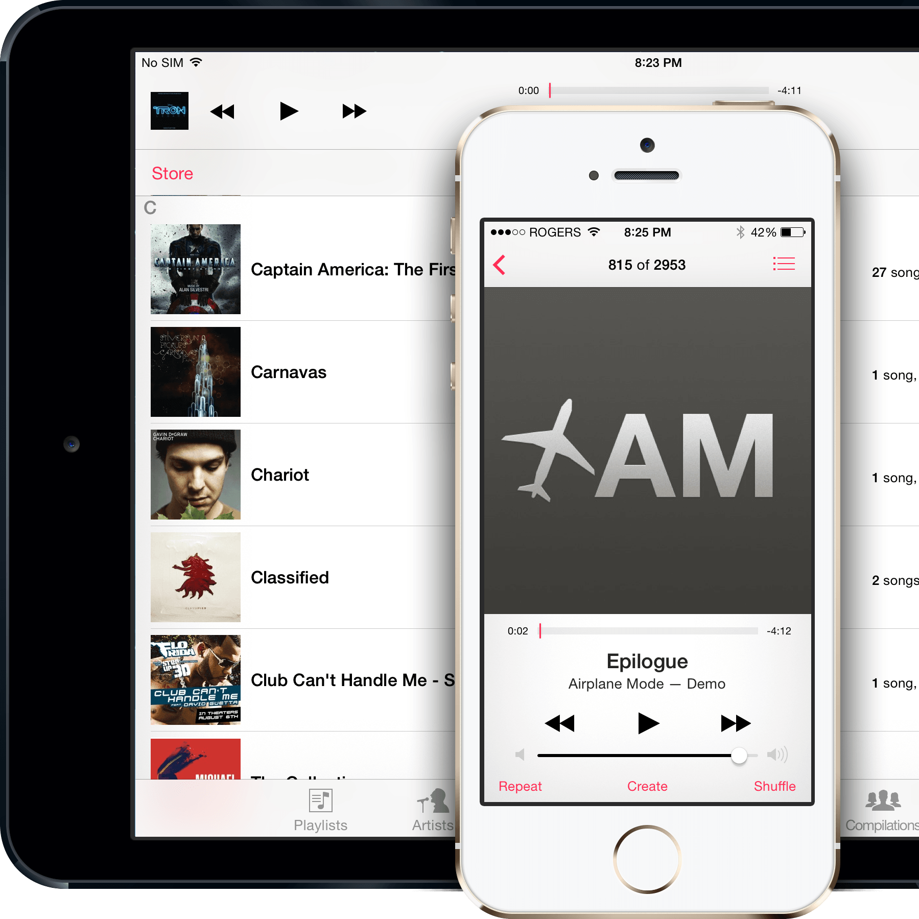 Application music iphone 4