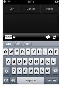 Application iphone souris ordinateur