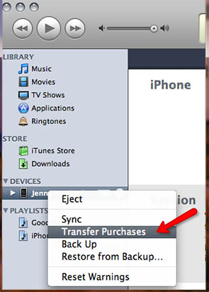 Comment transferer application iphone vers itunes