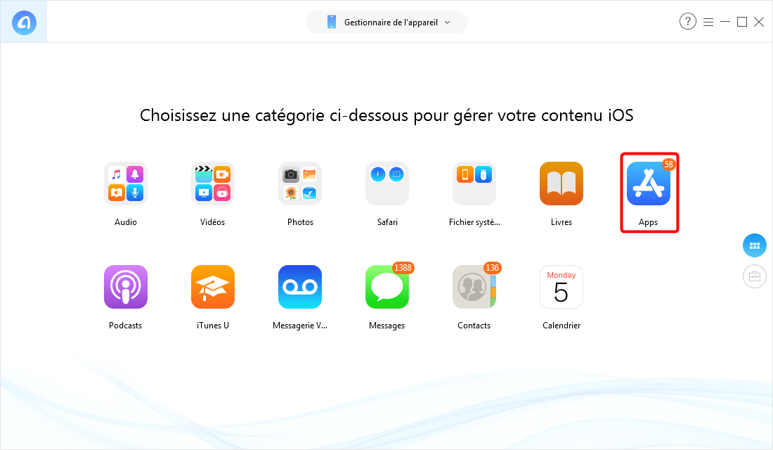 Comment transferer application iphone vers iphone
