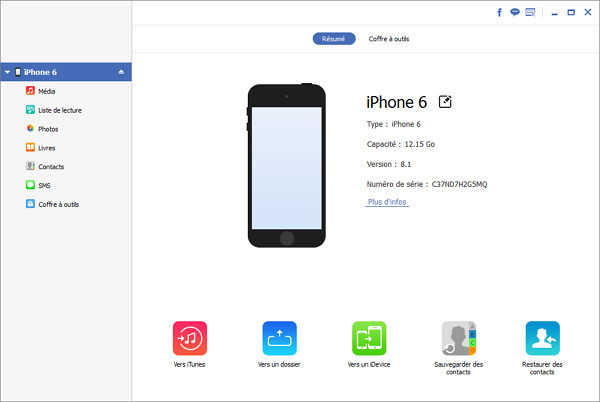 Application transfert sms iphone vers android gratuit