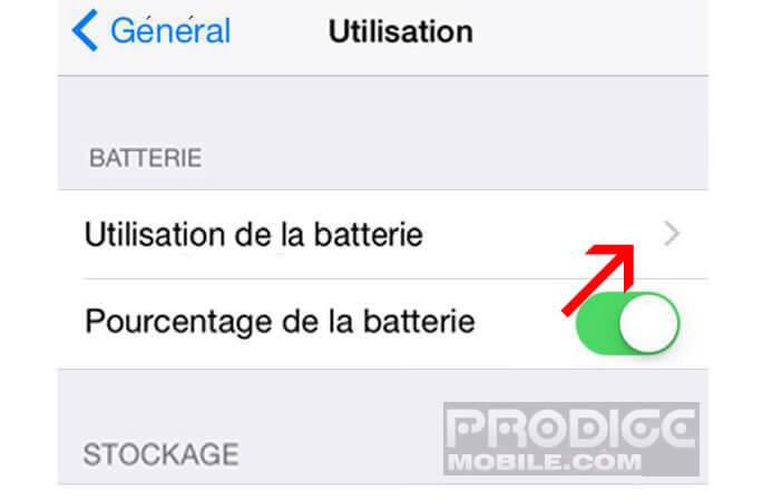 Comment savoir quelle application consomme batterie iphone