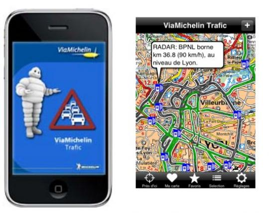 Application iphone trafic routier
