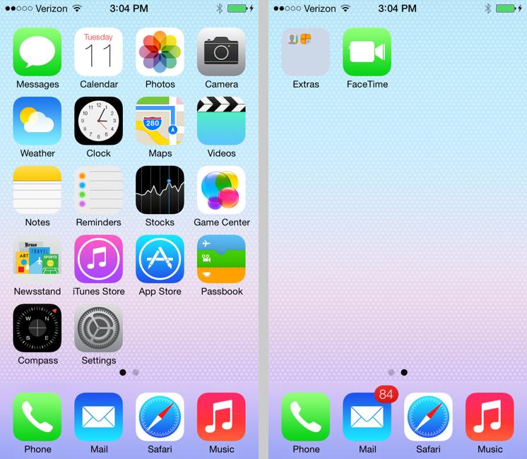 Application iphone ios7