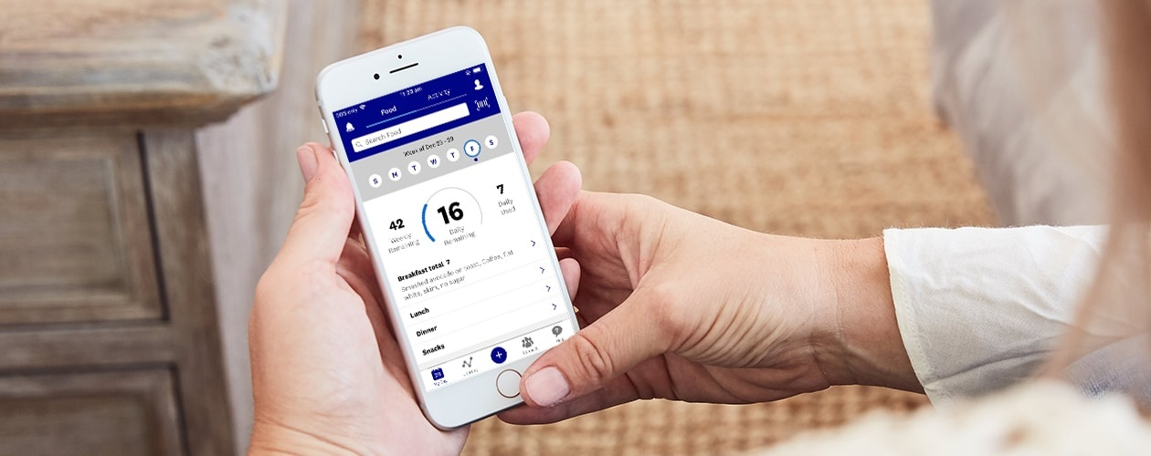 Application weight watchers pour iphone