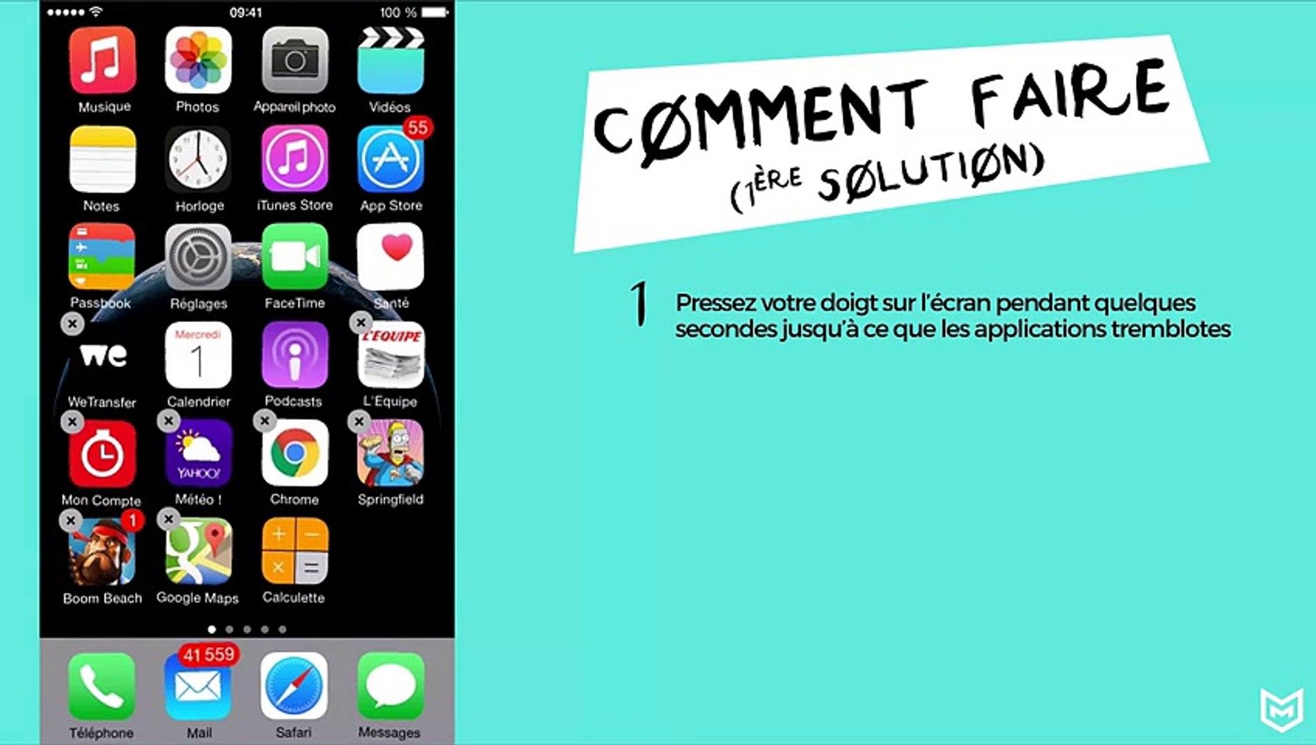 Impossible de supprimer une application iphone 6