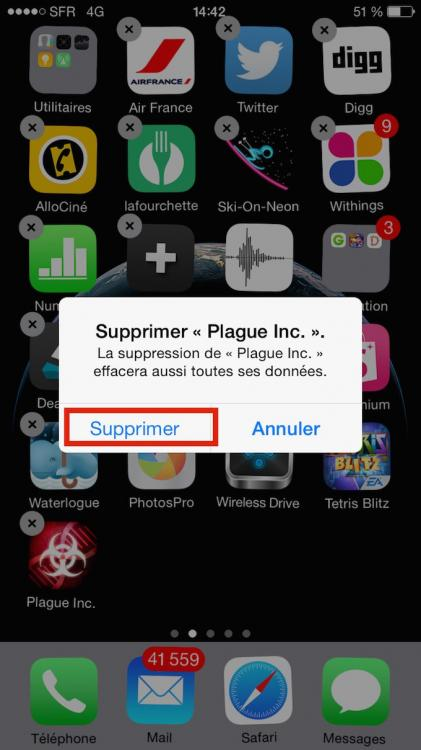 Iphone 6 supprimer une application