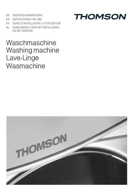 Thomson lave linge notice
