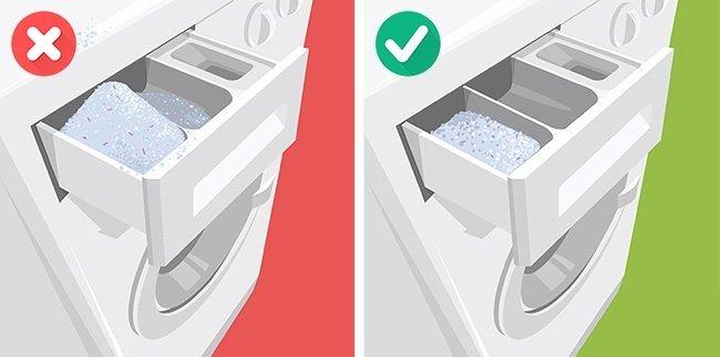 Lave linge ou mettre la lessive