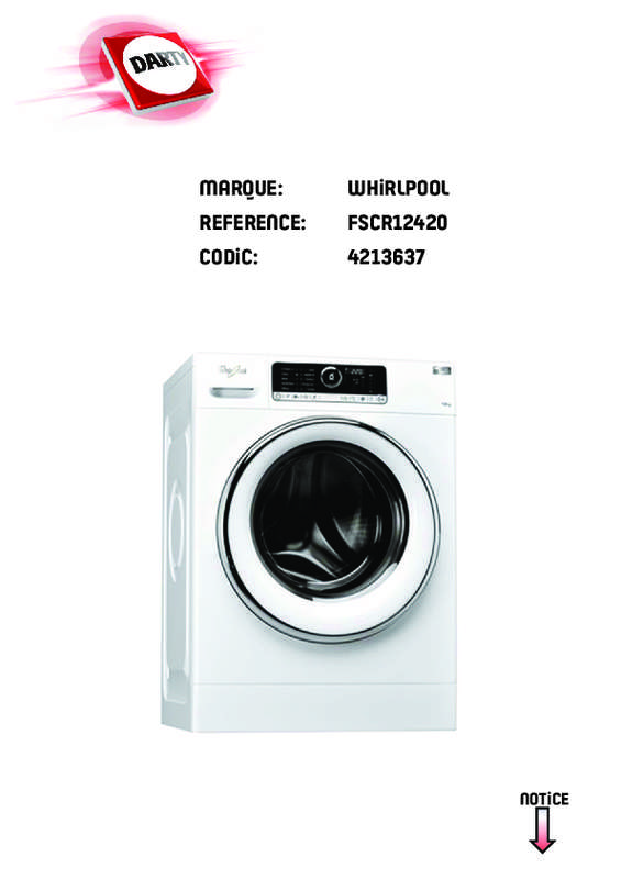Whirlpool pieces detachees fr lave linge catalogue
