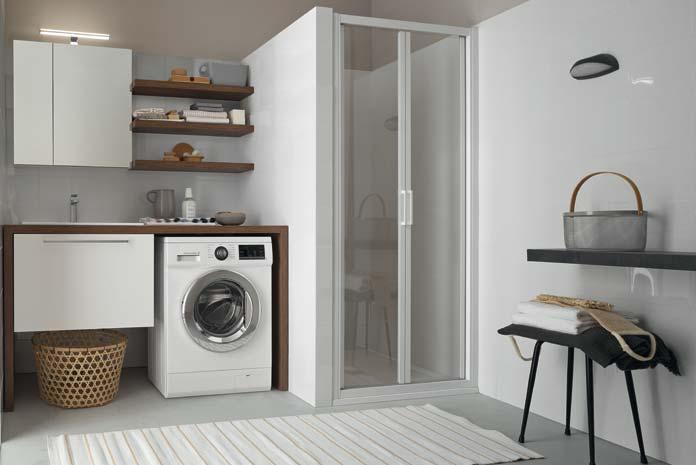 Meuble salle de bain avec emplacement lave linge