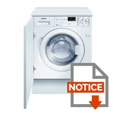 Lave linge integrable siemens